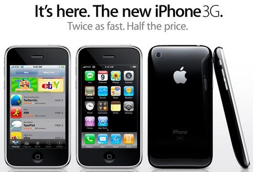 apple iphone 3g 1 million