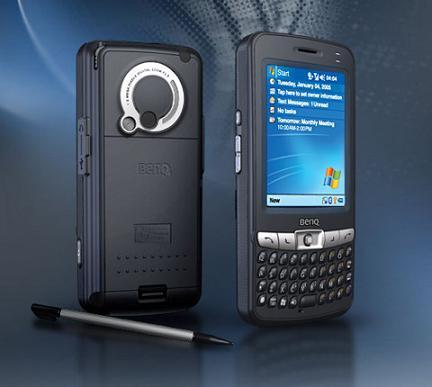 benq pda p50 business camera phone