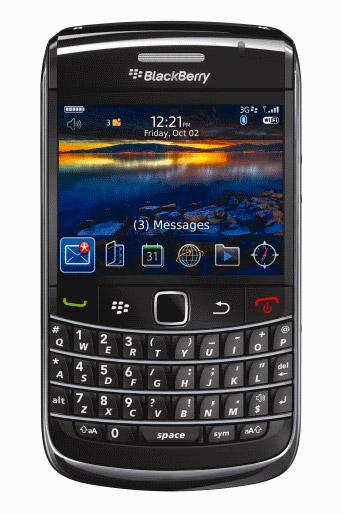blackberry bold 9700 front