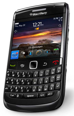 blackberry bold 9780 side