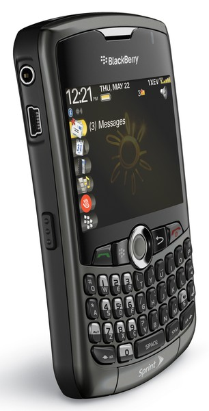 blackberry curve 8330 side