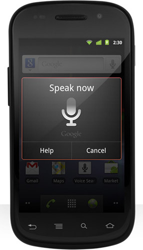 google nexus s speak
