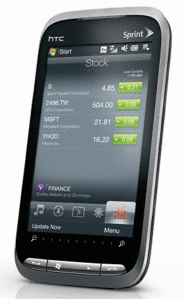 htc touch pro2 front