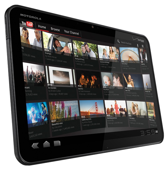 motorola xoom android 3 side