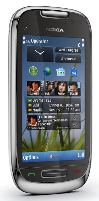 nokia c7 smartphone front