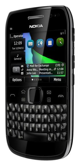 nokia e6 black qwerty