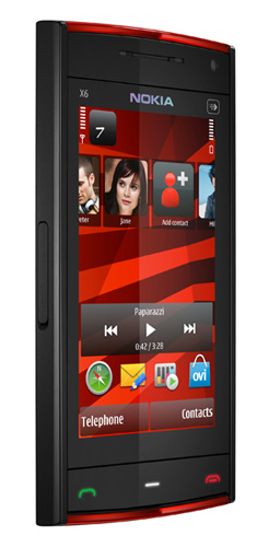 nokia x6 music front