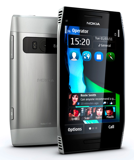 nokia x7 back front