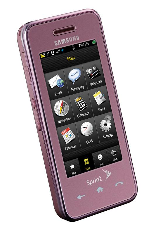 samsung instinct pink sprint smartphone